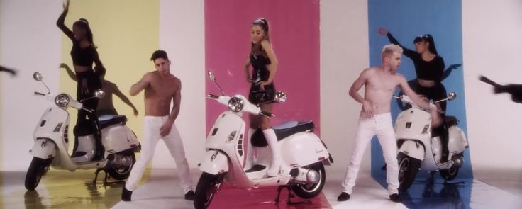 Piaggio Vespa LX scooter in PROBLEM by Ariana Grande (2014) Music Video Product Placement