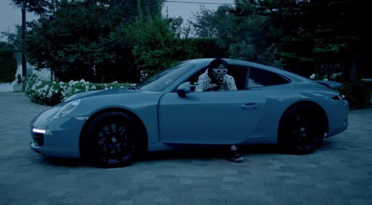 Porsche 911 [991] car driven by Wiz Khalifa in OUT ALL NIGHT (2014) Official Music Video Product Placement