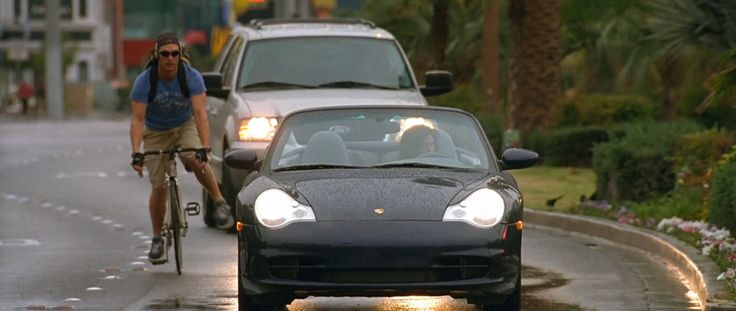 Porsche 911 Carrera Cabrio [996] car in TWO FOR THE MONEY (2005) Movie Product Placement