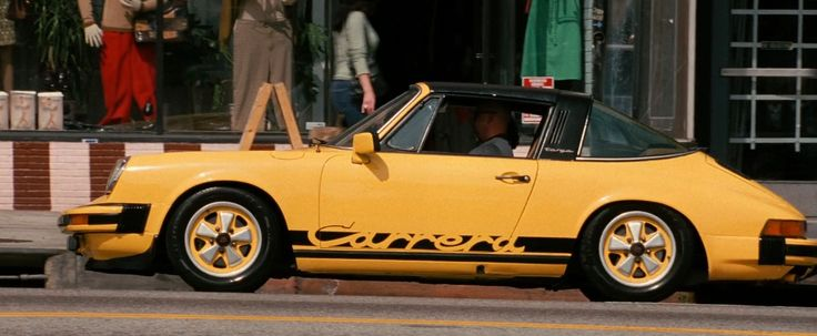 Porsche 911 Carrera Targa (1975) car in BE COOL (2005) Movie Product Placement