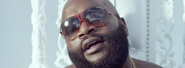 Porsche Design 5621 sunglasses worn by Rick Ross in NEW FLAME by Chris Brown (2014) Official Music Video Product Placement