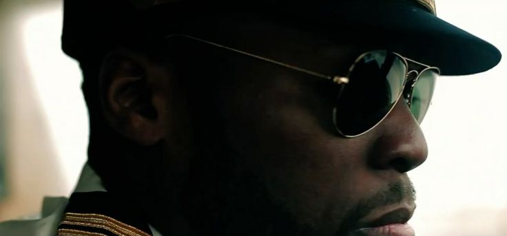 Ray Ban Aviator sunglasses worn by 50 Cent in PILOT (2014) Music Video Product Placement