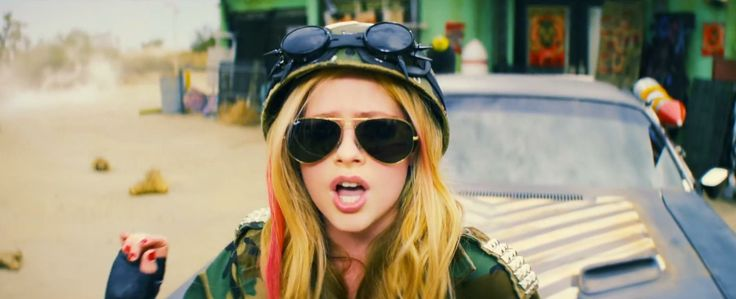 Ray-Ban Aviator sunglasses worn by Avril Lavigne in ROCK N ROLL (2013) Official Music Video Product Placement