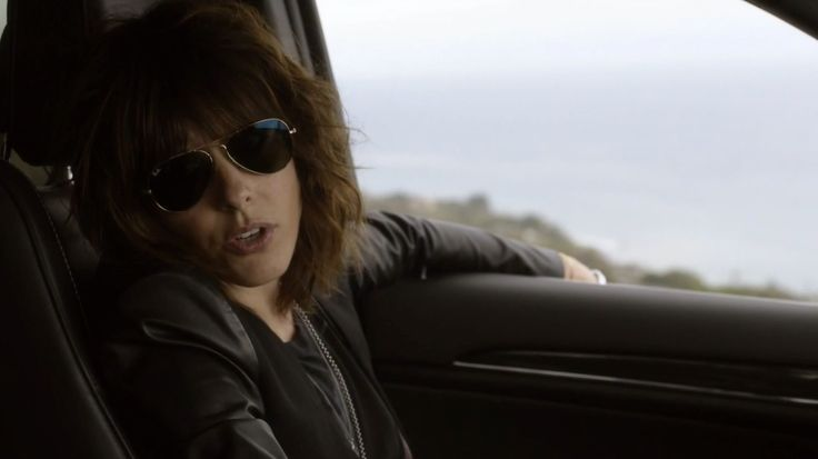 Ray-Ban Aviator sunglasses worn by Katherine Moennig in RAY DONOVAN: RODEF (2014) TV Show Product Placement