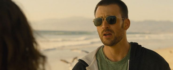 Ray-Ban sunglasses worn by Chris Evans in PLAYING IT COOL (2014) Movie Product Placement