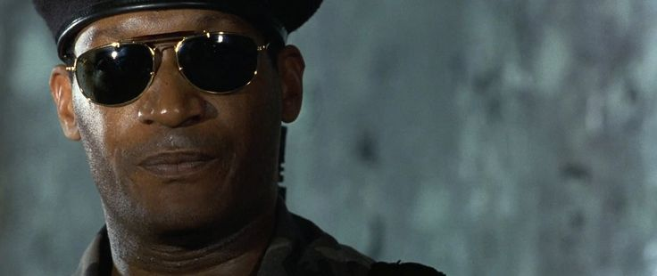 Ray Ban sunglasses worn by Tony Todd in The Rock (1996) Movie Product Placement