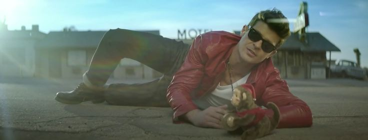 Ray Ban Wayfarer sunglasses worn by Robin Thicke in PRETTY LIL' HEART (2012) - Official Music Video Product Placement