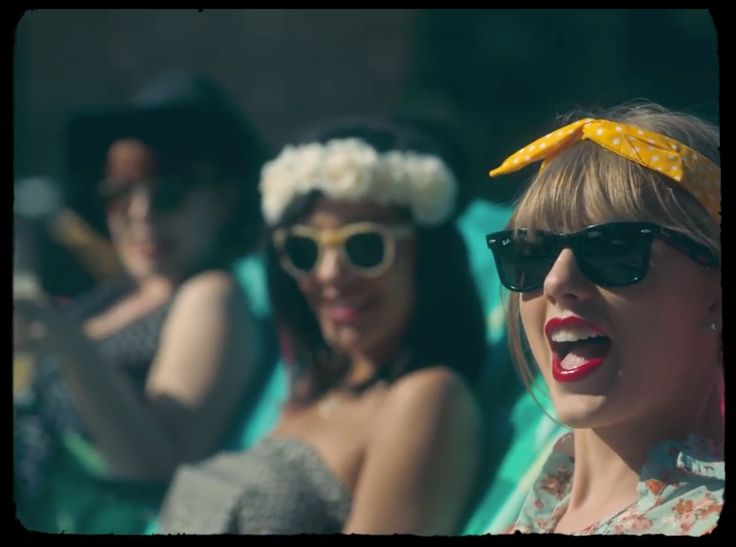Ray Ban Wayfarer sunglasses worn by Taylor Swift in 22 (2013) - Official Music Video Product Placement