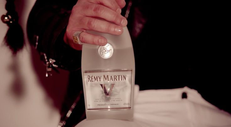 Remy Martin V Cognac drunk by Robin Thicke in BLURRED LINES by Robin Thicke (2012) Official Music Video Product Placement