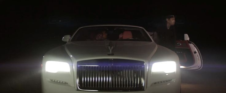Rolls-Royce Dawn car in GRASS AIN'T GREENER by Chris Brown (2016) Official Music Video Product Placement