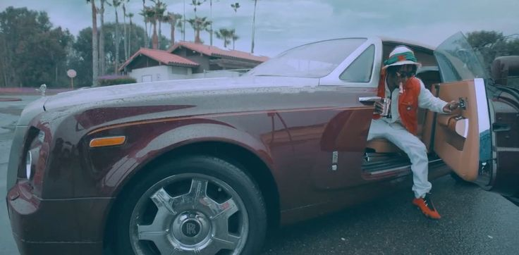Rolls-Royce Phantom Drophead Coupé car in BY CHANCE by Rae Sremmurd (2016) Official Music Video Product Placement