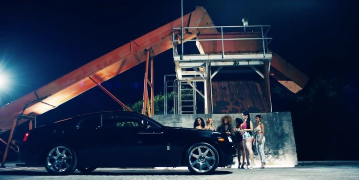 Rolls-Royce Wraith car in HOW MANY TIMES by DJ Khaled (2015) Official Music Video Product Placement