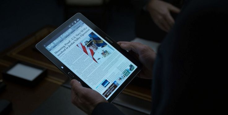 Samsung Galaxy Tab 4 android tablet in HOUSE OF CARDS: CHAPTER 38 (2015) TV Show Product Placement