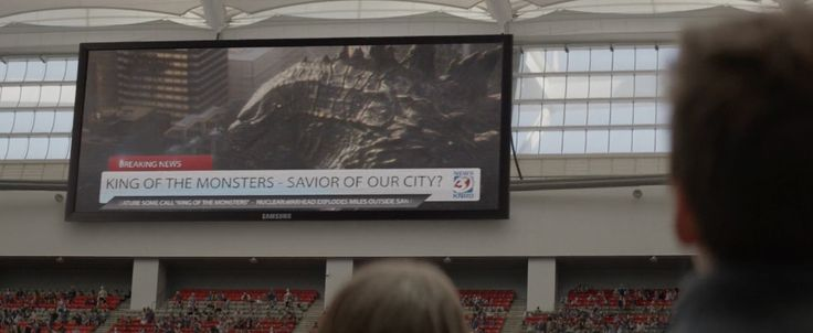 Samsung jumbotron in GODZILLA (2014) Movie Product Placement