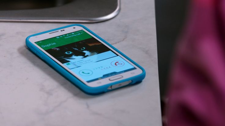 Samsung mobile phone in BLACK-ISH: THE PRANK KING (2014) TV Show Product Placement