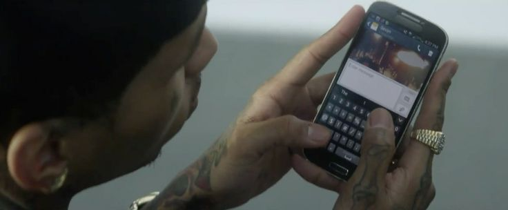 Samsung mobile phone in NEXT by Sevyn Streeter (2014) Official Music Video Product Placement