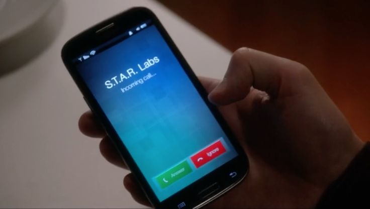 Samsung mobile phone used by Grant Austin in THE FLASH: FASTEST MAN ALIVE (2014) TV Show Product Placement