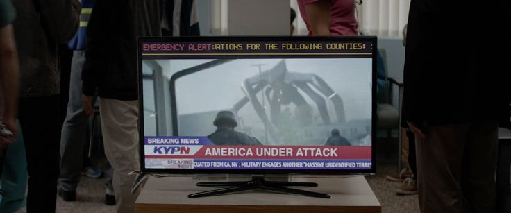 Samsung TV in GODZILLA (2014) Movie Product Placement