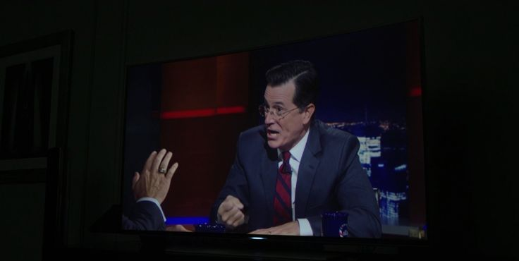 Samsung UHD TV and The Colbert Report TV show in HOUSE OF CARDS: CHAPTER 27 (2015) TV Show Product Placement