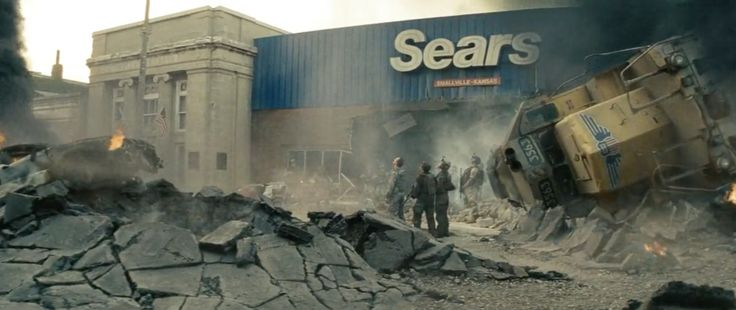 Sears store in MAN OF STEEL (2013) Movie Product Placement