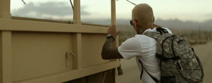 High Sierra backpack worn by Chris Brown in DON'T JUDGE ME (2012) Official Music Video Product Placement