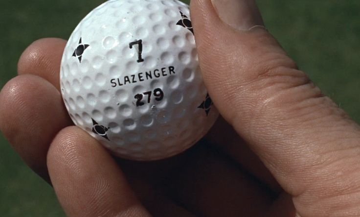 Slazenger golf ball in GOLDFINGER (1964) Movie Product Placement