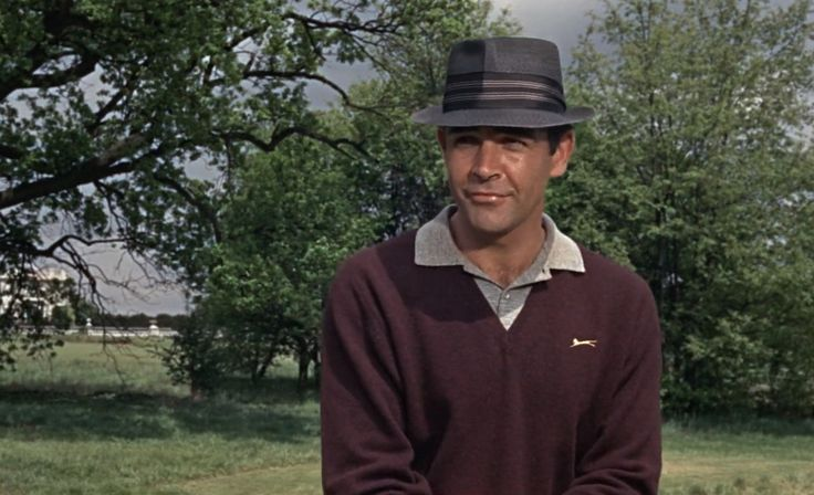 Slazenger jumper worn by Sean Connery in GOLDFINGER (1964) Movie Product Placement