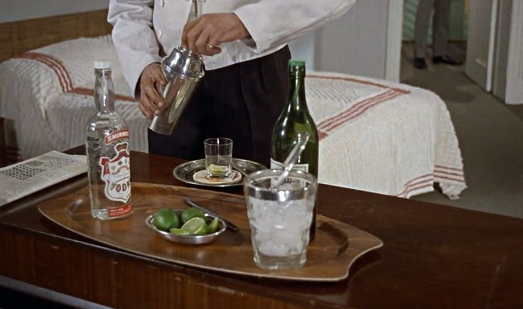 Smirnoff vodka in DR. NO (1962) Movie Product Placement