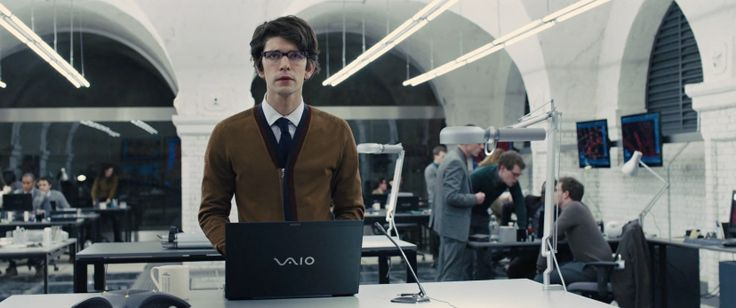 Sony VAIO laptop used by Ben Whishaw in SKYFALL (2012) Movie Product Placement