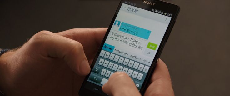 Sony Xperia android mobile phone in 22 JUMP STREET (2014) Movie Product Placement