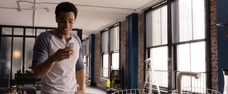Sony Xperia P mobile phone used by Michael Ealy in ABOUT LAST NIGHT (2014) Movie Product Placement