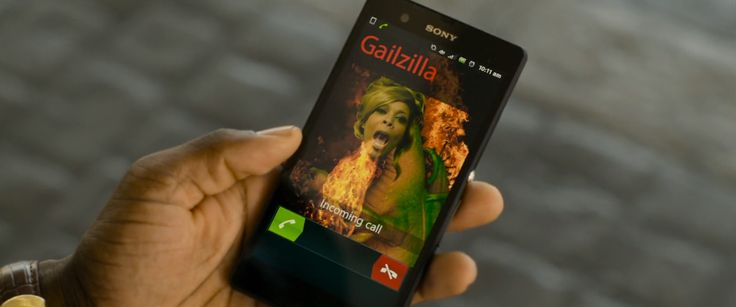 Sony Xperia Z android phone in THINK LIKE A MAN TOO (2014) Movie Product Placement