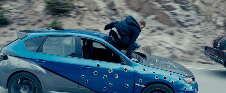 Subaru Impreza WRX STI Car driven by Paul Walker in FURIOUS 7 (2015) Movie Product Placement