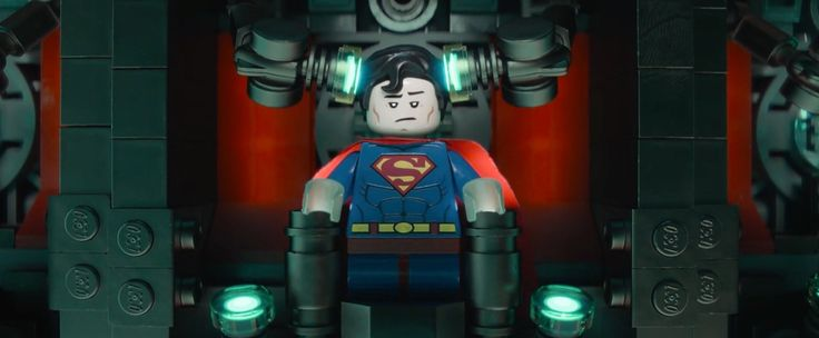 Superman x Lego toy - THE LEGO MOVIE (2014) Animation Movie Product Placement