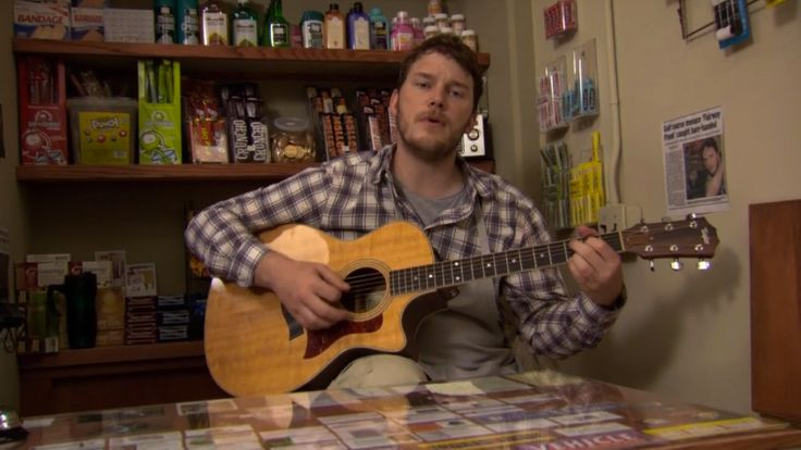 Taylor guitar - PARKS AND RECREATION TV Show Product Placement