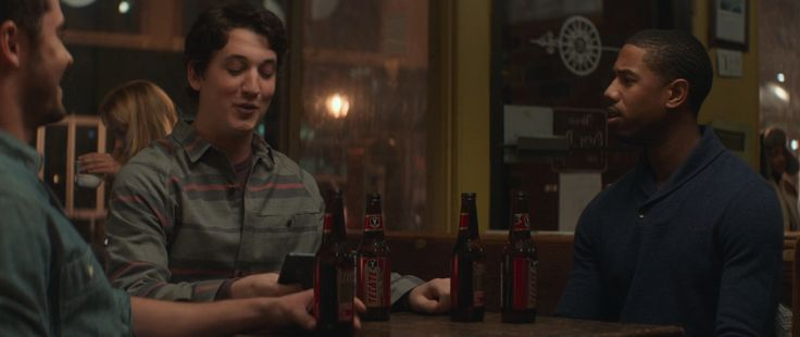 Tecate beer drunk by Zac Efron, Miles Teller and Michael B. Jordan in THAT AWKWARD MOMENT (2014) - Movie Product Placement