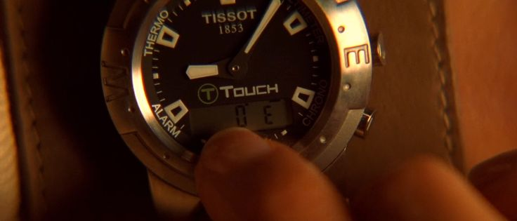 Tissot T-Touch watch used by Angelina Jolie in LARA CROFT TOMB RAIDER: THE CRADLE OF LIFE (2003) Movie Product Placement