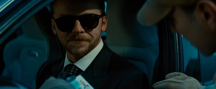 Tom Ford sunglasses worn by Simon Pegg in MISSION: IMPOSSIBLE - ROGUE NATION (2015) Movie Product Placement