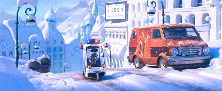 Uber billboard in ZOOTOPIA (2016) - Animation Movie Product Placement
