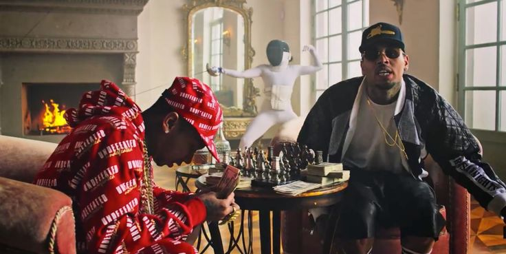 Undefeated outfit worn by Tyga in AYO by Chris Brown (2015) - Official Music Video Product Placement