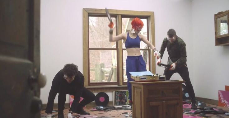 Under Armour bra worn by Hayley Williams in AIN'T IT FUN by Paramore (2014) Official Music Video Product Placement