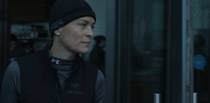 Under Armour top and Arc'teryx jacket worn by Robin Wright in HOUSE OF CARDS: CHAPTER 2 (2013) TV Show Product Placement