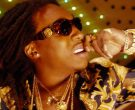 Versace 424 sunglasses worn by Takeoff in FIGHT NIGHT by Mig...