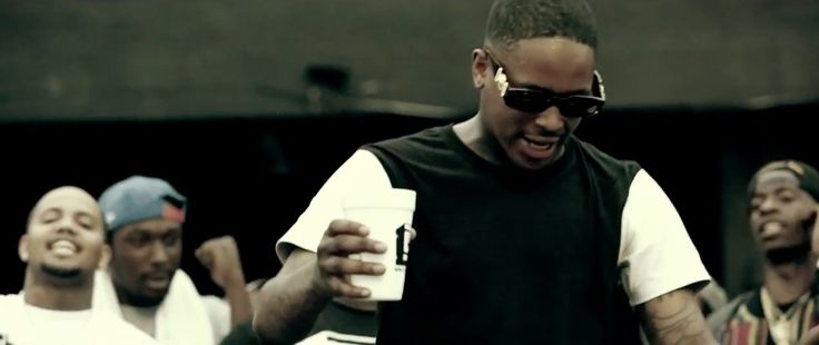 Versace Mod 424 sunglasses worn by Young Jeezy in MY NIGGA by YG (2013) Official Music Video Product Placement