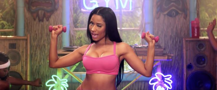 Victoria's Secret Sport 'VSX' bra worn by Nicki Minaj and MateFit in ANACONDA (2014) - Official Music Video Product Placement