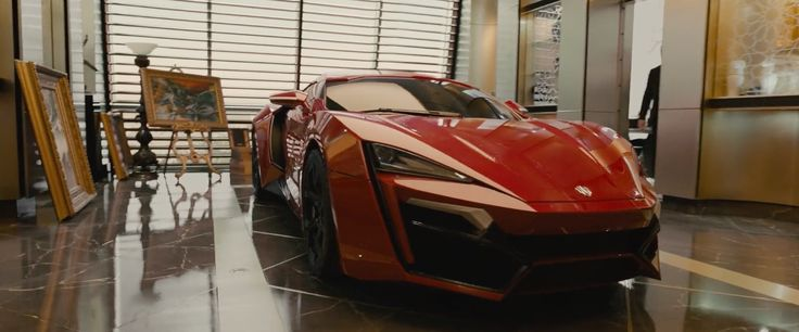 W Motors Lykan Hypersport  car in FURIOUS 7 (2015) - Movie Product Placement