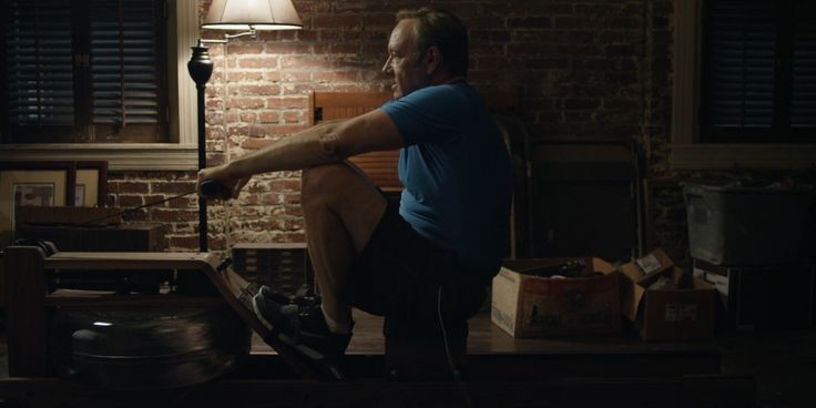 WaterRower machine and Nike shoes worn by Kevin Spacey in HOUSE OF CARDS: CHAPTER 4 (2013) TV Show Product Placement