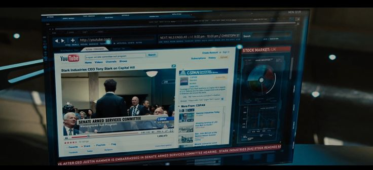 Youtube and C-SPAN - Iron Man 2 (2010) Movie Product Placement