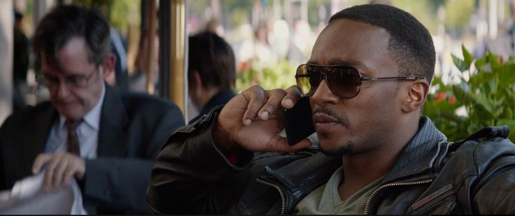 Yves Saint Laurent sunglasses worn by Anthony Mackie in CAPTAIN AMERICA: THE WINTER SOLDIER (2014) Movie Product Placement