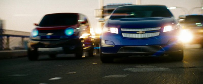 Chevrolet Volt Car in Transformers: Revenge of the Fallen (2009) Movie Product Placement
